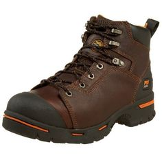 """Timberland PRO Men's 52562 Endurance 6"""" PR Work Boot Timberland. $108.00. Flexible Steel-Flex puncture resistant plate. Dual purpose top hardware. Abrasion resistant rubber double toe for increased wear and protection. leather. Rubber sole. Meets CSA standards. Rugged full grain leather upper"""
