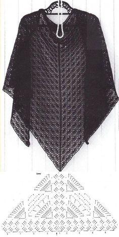 Crochet Beautiful Shawl – Best for You Col Crochet, Crochet Shawl Diagram, Poncho Au Crochet, Crochet Scarves, Crochet Braids, Diy Scarf, Lace Scarf, Diy Crafts Crochet, Crochet Patterns