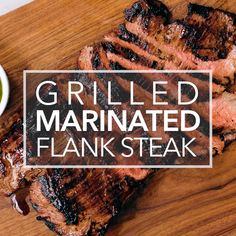 This Grilled Marinated Flank Steak is melt-in-your-mouth delicious! A marinade made with soy sauce, honey and garlic makes this cut extra delicious. Rinder Steak, Marinated Flank Steak, Flank Steak Recipes, Grilled Steak Recipes, How To Grill Steak, Beef Flank, Steak Marinades, Steak Marinade Recipes, Bbq Grill