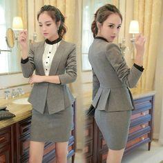 Trajes pantalón formales para mujeres trajes de negocios para ... 83c8f93e1917