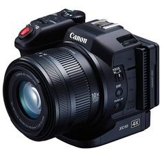 "Canon XC10 4K.  Designed to be as good at shooting video as it is at shooting still images, Canon's new XC10 is a true ""convergence"" camera. In addition to its 12MP stills & 1-inch APS-C sensor it offers 5-axis image stabilization in HD mode & ISO sensitivity up to 20,000."