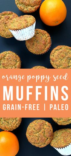 TThese (grain-free and paleo) orange poppy seed flax muffins are light and sweet from a combination of naturals sugars in orange juice and honey.