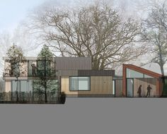 Meadow View. Driveway image. Contemporary Architecture. Hawkes. PPS7 (Now NPPF 55).