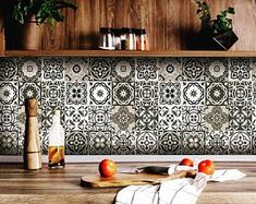 carrelage stickers tile stickers 24 Tiles Decals Tiles Stickers mixed Tiles for walls Kitchen Bathro Kitchen Decals, Kitchen Colors, Kitchen Backsplash, Tiles For Kitchen, Mexican Tile Kitchen, Kitchen Paint, Tile Decals, Vinyl Tiles, Wall Tiles
