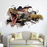 60x90cm PVC Waterproof 3D Jurassic World Dinosaur Wall Sticker Art Mural Home Living Room Bedroom Decor Decal