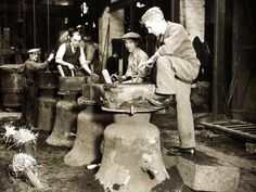 Bells being cast at Croydon - UK - 15 March 1937