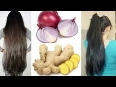 Ginger and onions for extreme hair growth and hair loss / how long and thick hair grows with ginger Beauty Tips For Glowing Skin, Health And Beauty Tips, Beauty Skin, Hair Mask For Growth, Hair Remedies For Growth, Homemade Hair Conditioner, Onion Juice For Hair, Diy Hair Hacks, Homemade Hair Treatments