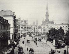 Der Spittelmarkt um 1896, Blick in Richtung Gertraudenstr. links die Niederwallstr. L.Levy