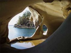 galiano island sand caves vancouver british columbia