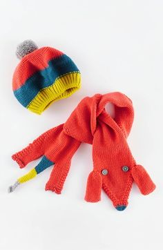 Free shipping and returns on Mini Boden Dog Knit Scarf & Beret (Little Girls & Big Girls) at Nordstrom.com. A colorful striped beret and cute pup with button eyes will keep her cozy and supercute on chilly days.
