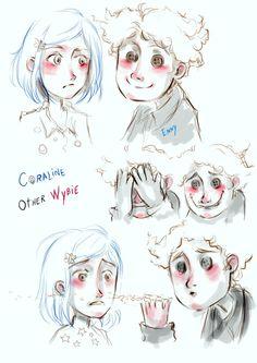 Coraline and other Wybie. by EnnyLarok.deviantart.com on @DeviantArt
