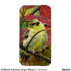Goldfinch in Autumn Incipio iPhone 6 Wallet Case Incipio Watson™ iPhone 6 Wallet Case