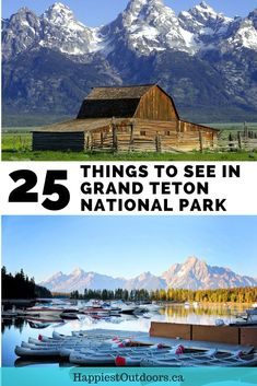 A big list of things to see in Grand Teton National Park. Things to do in Grand Teton National Park including hiking, boating, history, wildlife and scenic drives. Grand Teton activities. Grand Teton sightseeing. What to do in Grand Teton National Park. #GrandTeton #GrandTetonNationalPark #NationalParks