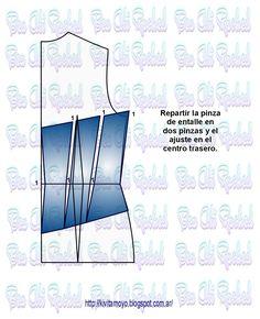 CORSET CON VARIOS RECORTES Corset Pattern, Dress Sewing Patterns, Have Fun, Blog, Fabric, Tutu, Fashion Design, Felting, Diy