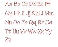 Tinker Toy Machine Embroidery Font Monogram Alphabet - 3 Sizes. $2.95, via Etsy.