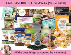 Fall Favorites for Healthy Foodies Giveaway!