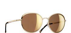 Chanel gold mirror sunglasses