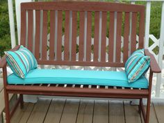 Love Seat on Deck After Staining