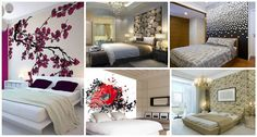 Make the blank walls in the bedroom exciting and modern with a wall art. Beautiful bedroom walls create different moods …