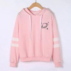 Printed Planet coat female Spring Fashion moletom feminino Long Sleeve Sweatshirt Hoodie Causal Tops hoodies women