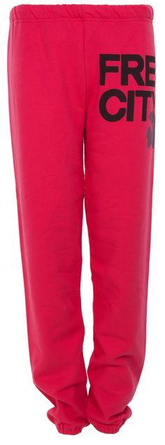 Perfefct Pants: Lässige Freizeithose in Pink von Free City.