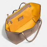 Market Tote in Polished Pebble Leather - Alternate View 3