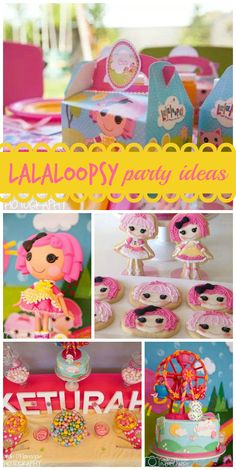 A Lalaloopsy girl birthday party with adorable decorations and the cutest cookies ever! See more party planning ideas at CatchMyParty.com!