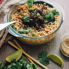 A Mexican twist on a traditional Chinese dish. Chorizo dan dan noodles with cumin, cilantro, and lime. Spicy and hearty, perfect for fall!