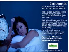 Sleep is a natural phenomenon of giving adequate rest to the body and mind. When this natural phenomenon is disturbed it leads to sleep disorders. Causes for insomnia are an irregular sleep-wake schedule, physical disorders, anxiety, and stress etc. Aggravated dosa is the main cause for insomnia. The Ayurvedic treatment focuses on balancing the aggravated Dosa with herbal medicines, customized diet, change of lifestyle. Besides that, relaxation of mind is also important part of the…