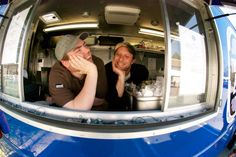 Read about Greensboro food truck owners Sam Shumaker and Dallas Baker.