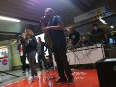"""Juana """"Retórica"""" participando con X-PRO en el metro de Colón Ciclo de #Metrovadores de @enclavedeblog"""