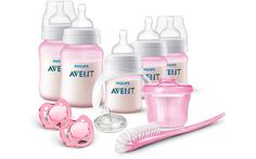 - Philips Avent Anti-colic Newborn Starter Set is the ideal set to get started with bottle feeding. It includes 4 Anti-colic baby bottles bottle brush, milk powder dispenser, 2 pacifiers and a trainer cup. Colic Baby, Baby Newborn, Avent Anti Colic Bottles, Avent Baby Bottles, Avent Baby Products, New Baby Products, Articles Pour Enfants, Regalo Baby Shower, Baby Essentials