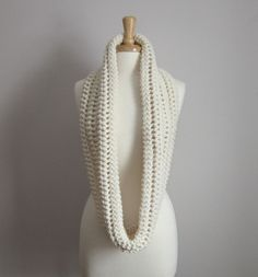 The Aspen Infinity Loop Scarf  Winter White by WarmMeUp on Etsy, $60.00