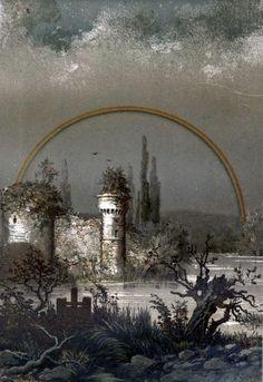 1873年、フランスにて出現した月虹図