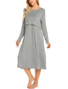 8ee29eadfd9e8 Maternity Styles - best maternity dresses : Ekouaer Womens Layered Maternity  Dress Empire Waist Nursing Breastfeeding