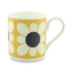 Square Daisy Mug Yellow