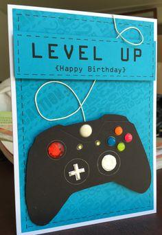 Birthday card for video gamer Jacob. September 2016.