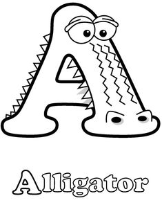 Colouring-in page - sample from 'Alphabetimals Picture Dictionary' via Dover Publications ~s~ Creative Curriculum Preschool, Preschool Letter Crafts, Abc Crafts, Alphabet Crafts, Letter A Crafts, Alphabet Letters, Coloring Letters, Alphabet Coloring Pages, Coloring Books