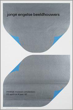 Wim Crouwel – Jonge Engelse Beeldhouwers, Stedelijk Museum Amsterdam 22 april t/m 4 juni 67. – 1968