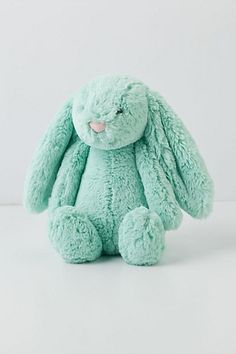 Anthropologie Cottontail Bunny Rabbit with a heart-shaped pink nose ~ <3