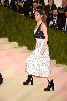 Pin for Later: Selena Gomez Went Street Style Chic For This Year's Met Gala