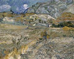 Vincent Van Gogh Landscape at Saint-Remy (enclosed field with peasant)