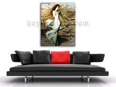 High quality 1-panel Giclee high-resolution canvas print with female in realism style. It is available in numerous sizes to fit any size room!