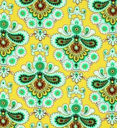 Amy Butler Fabric-Belle-French Wallpaper-Mustard