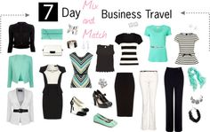 """""""7 Day Business Travel Outfits (Spring)"""" by lauriehasler on Polyvore"""