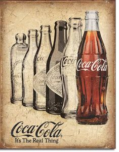 Coke The Real Thing Metal Sign