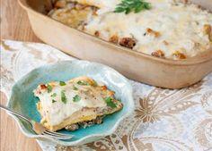 White Sausage Lasagna - Uses cream cheese and Gouda!