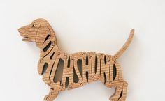 Red Oak Dachshund Pet Puzzle Cut On Scroll Saw by DukesScrollSaw