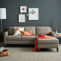 3 Striking Color Combinations For Fall : alan white sectional - Sectionals, Sofas & Couches