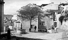 Largo dos Trigueiros nos anos 40.